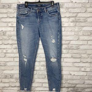 Silver Suki Cropped Skinny Light Women's Jeans